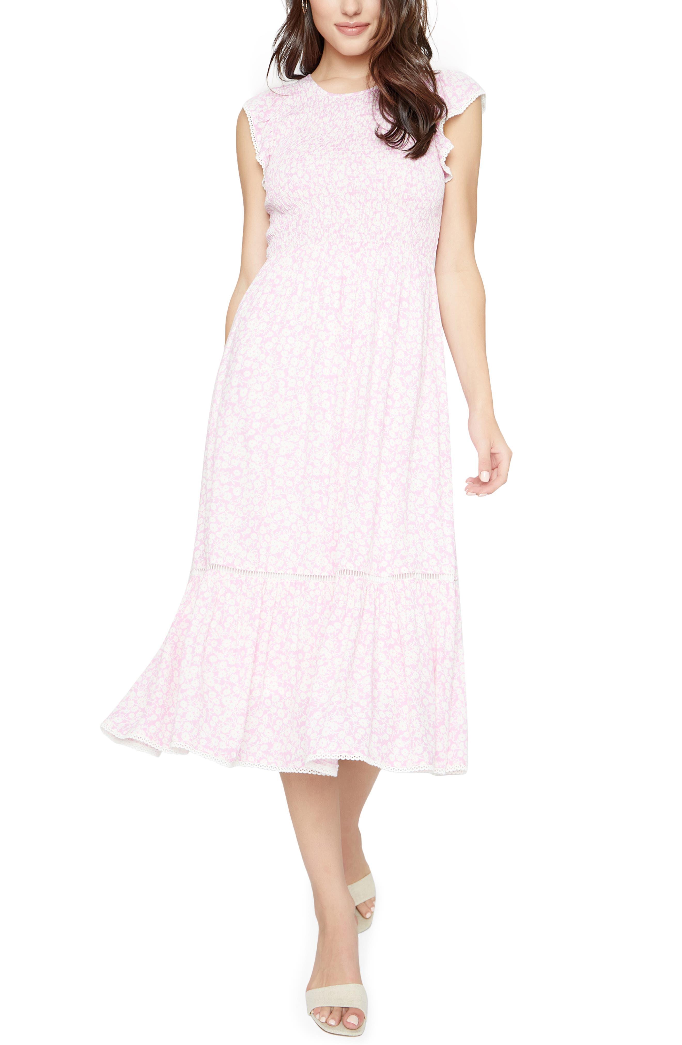 Women's Lost + Wander Pick Me Floral Cotton Midi Dress