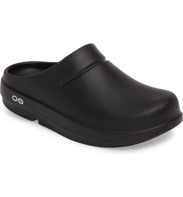 OOFOS OOcloog Clog, Main, color, BLACK MATTE