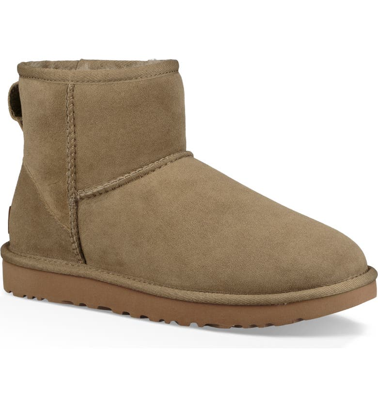 UGG<SUP>®</SUP> Classic Mini II Genuine Shearling Lined Boot, Main, color, ANTELOPE SUEDE