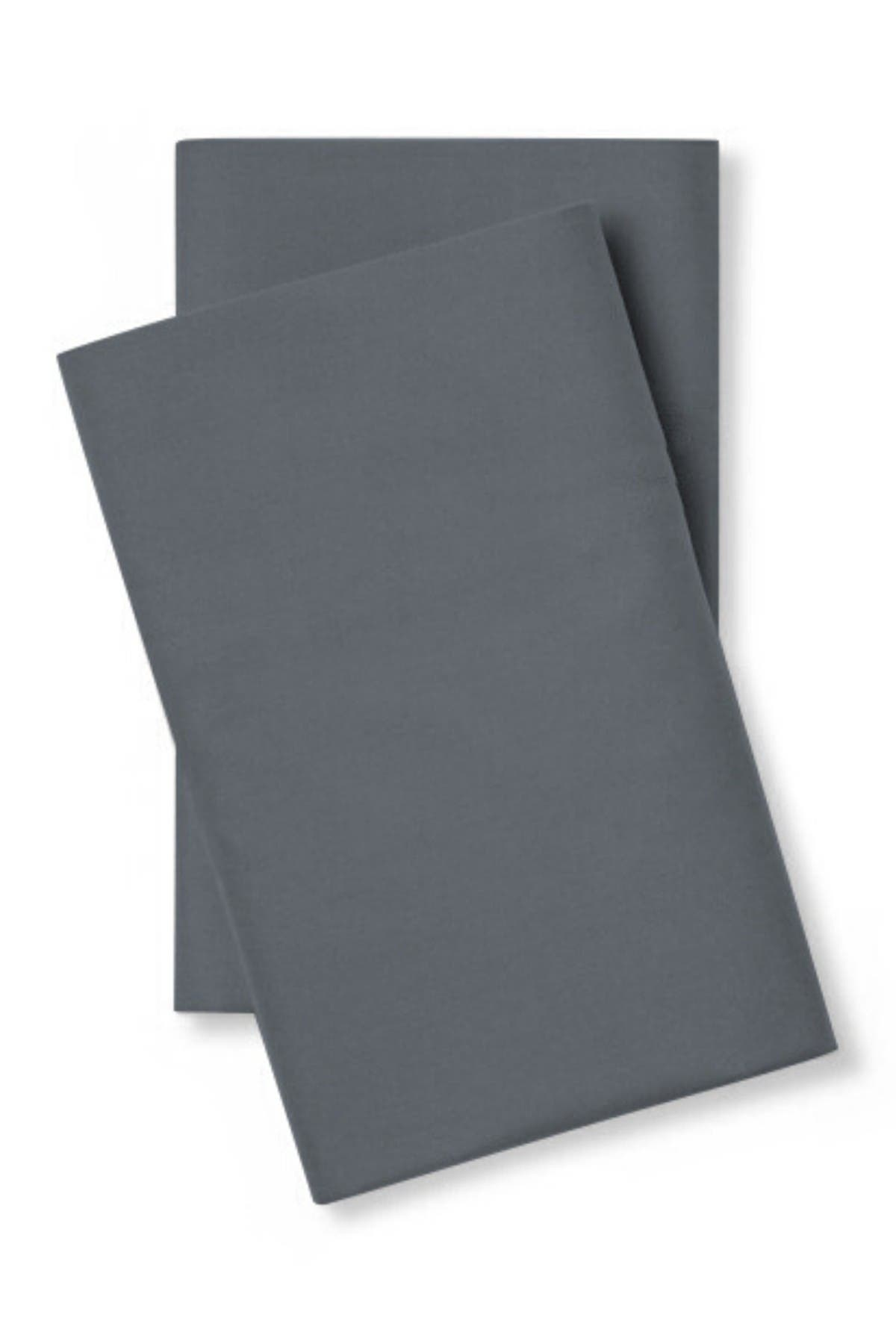 Image of Pillow Guy Classic Cool & Crisp Cotton Percale Pillowcase Pair - Set of 2 - Standard/Queen - Charcoal