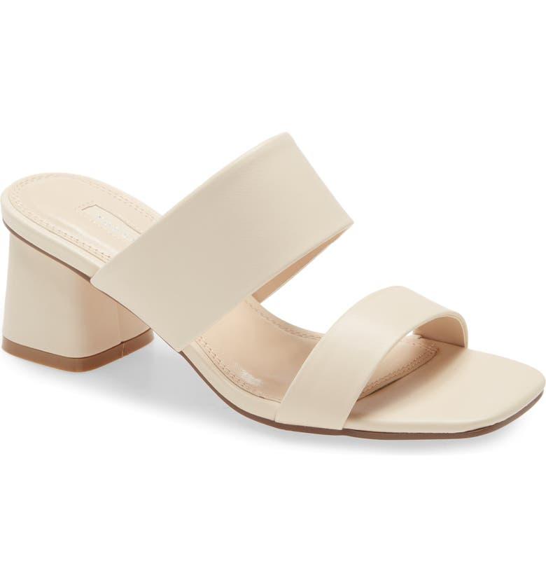 TOPSHOP Dina Slide Sandal, Main, color, BEIGE