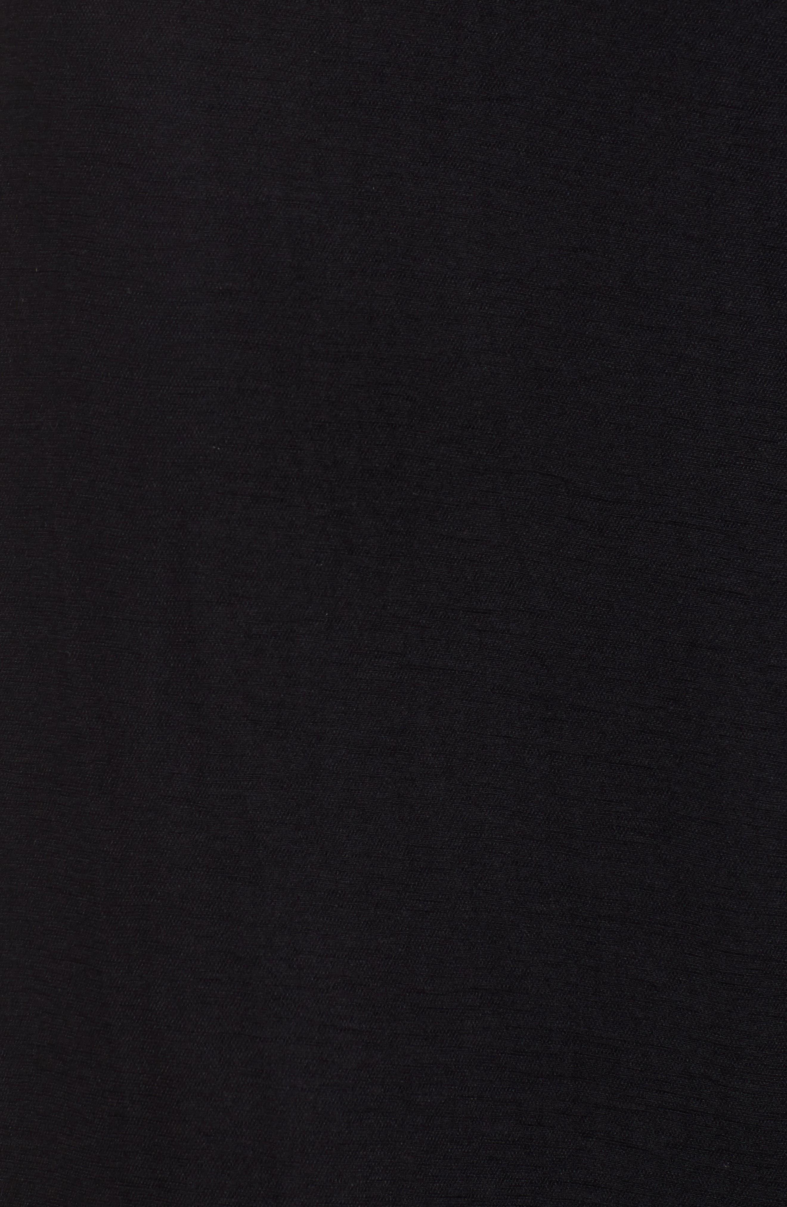 ,                             Tie Front Jumpsuit,                             Alternate thumbnail 6, color,                             BLACK