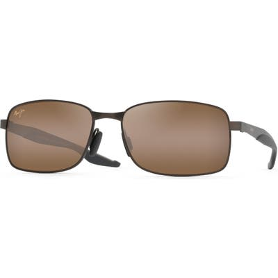 Maui Jim Shoal 57mm Polarized Sunglasses - Matte Brown