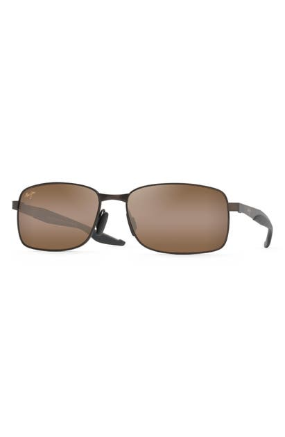 Maui Jim Sunglasses SHOAL 57MM POLARIZED SUNGLASSES - MATTE BROWN