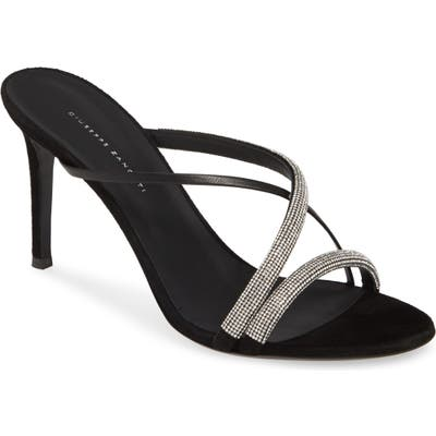 Giuseppe Zanotti Embellished Slide Sandal, Black