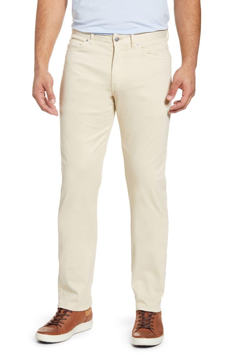 PETER MILLAR Ultimate Sateen Five Pocket Pants, Main, color, SAND