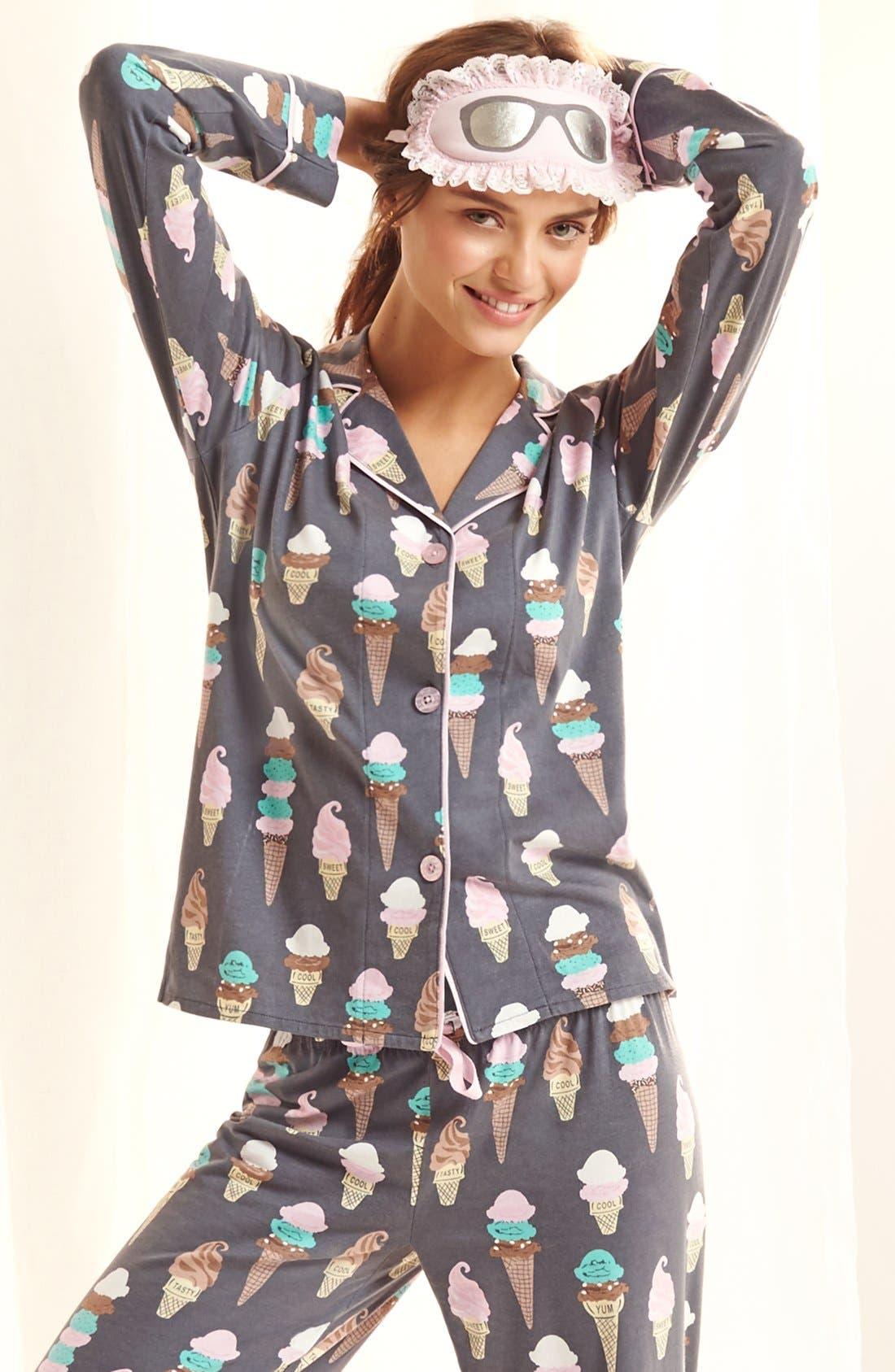 ,                             Print Jersey Pajamas,                             Alternate thumbnail 12, color,                             100