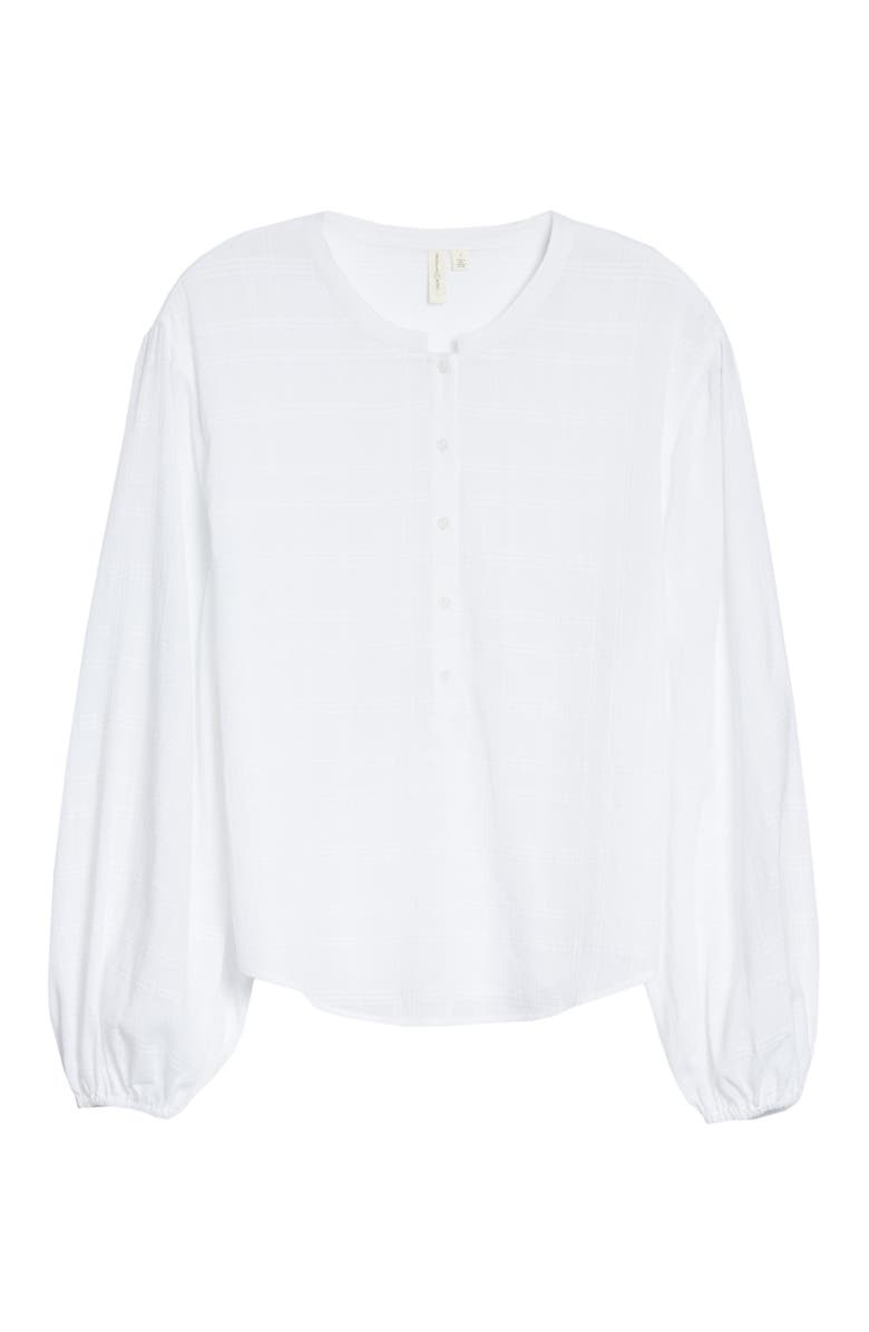 TREASURE & BOND Popover Blouse, Main, color, WHITE