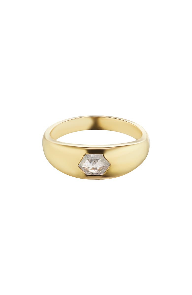 MANIAMANIA Enigma Diamond Band Ring, Main, color, YELLOW GOLD/ DIAMOND