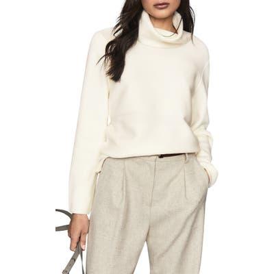Reiss Shea Wool Blend Turtleneck Sweater, Ivory