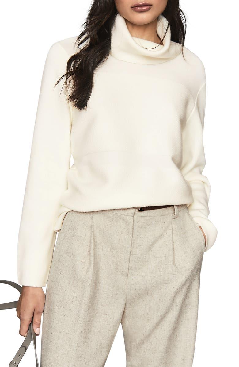 REISS Shea Wool Blend Turtleneck Sweater, Main, color, 900