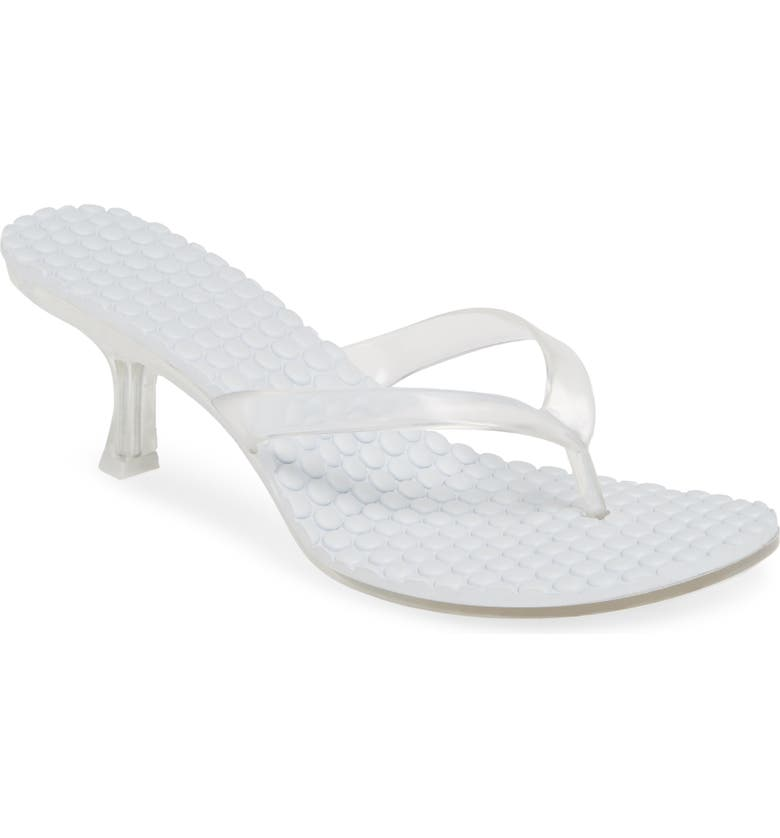 JEFFREY CAMPBELL Thong 2 Slide Sandal, Main, color, CLEAR FAUX LEATHER