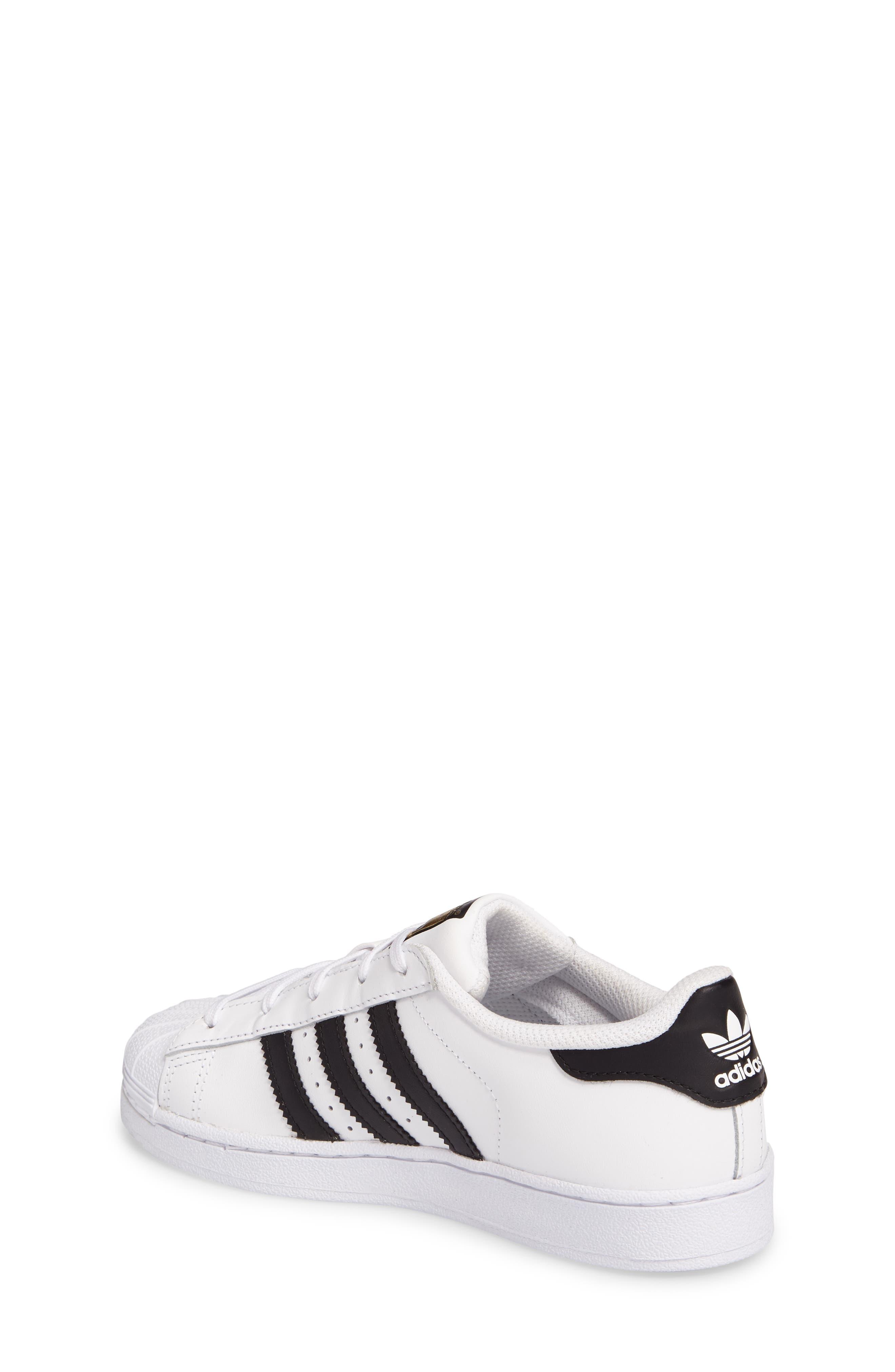 ,                             'Superstar Foundation' Sneaker,                             Alternate thumbnail 2, color,                             WHITE/ BLACK