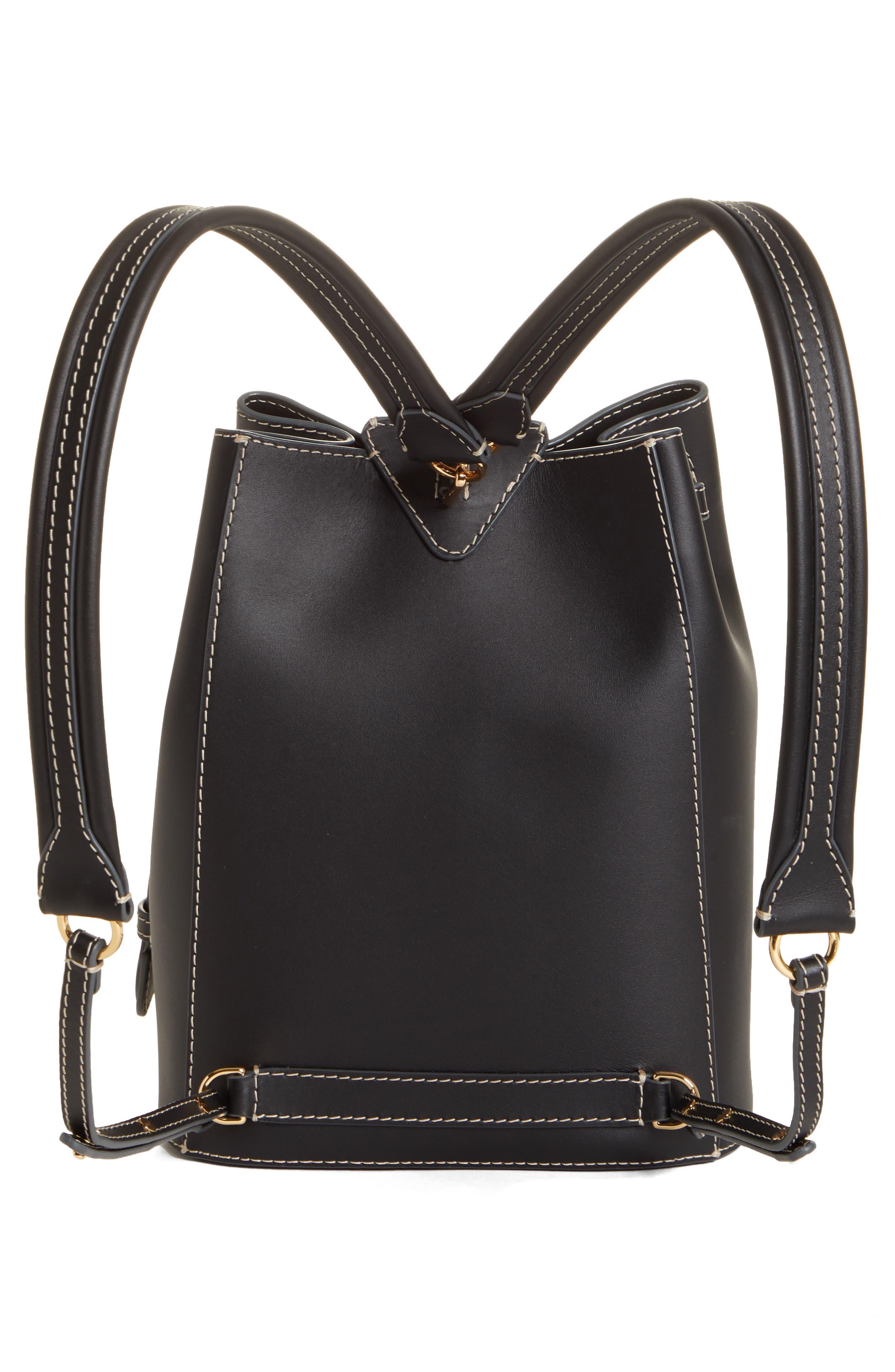 ,                             Jamie Leather Backpack,                             Alternate thumbnail 3, color,                             BLACK