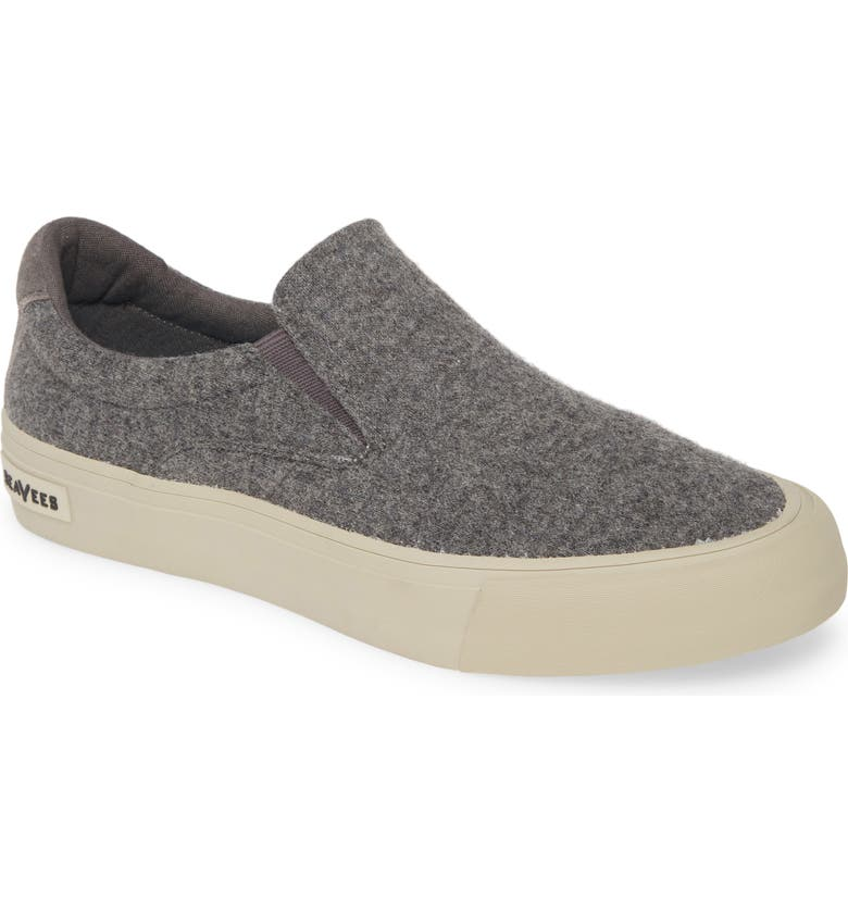 SEAVEES Hawthorne Slip-On, Main, color, GREY HEATHER FLANNEL