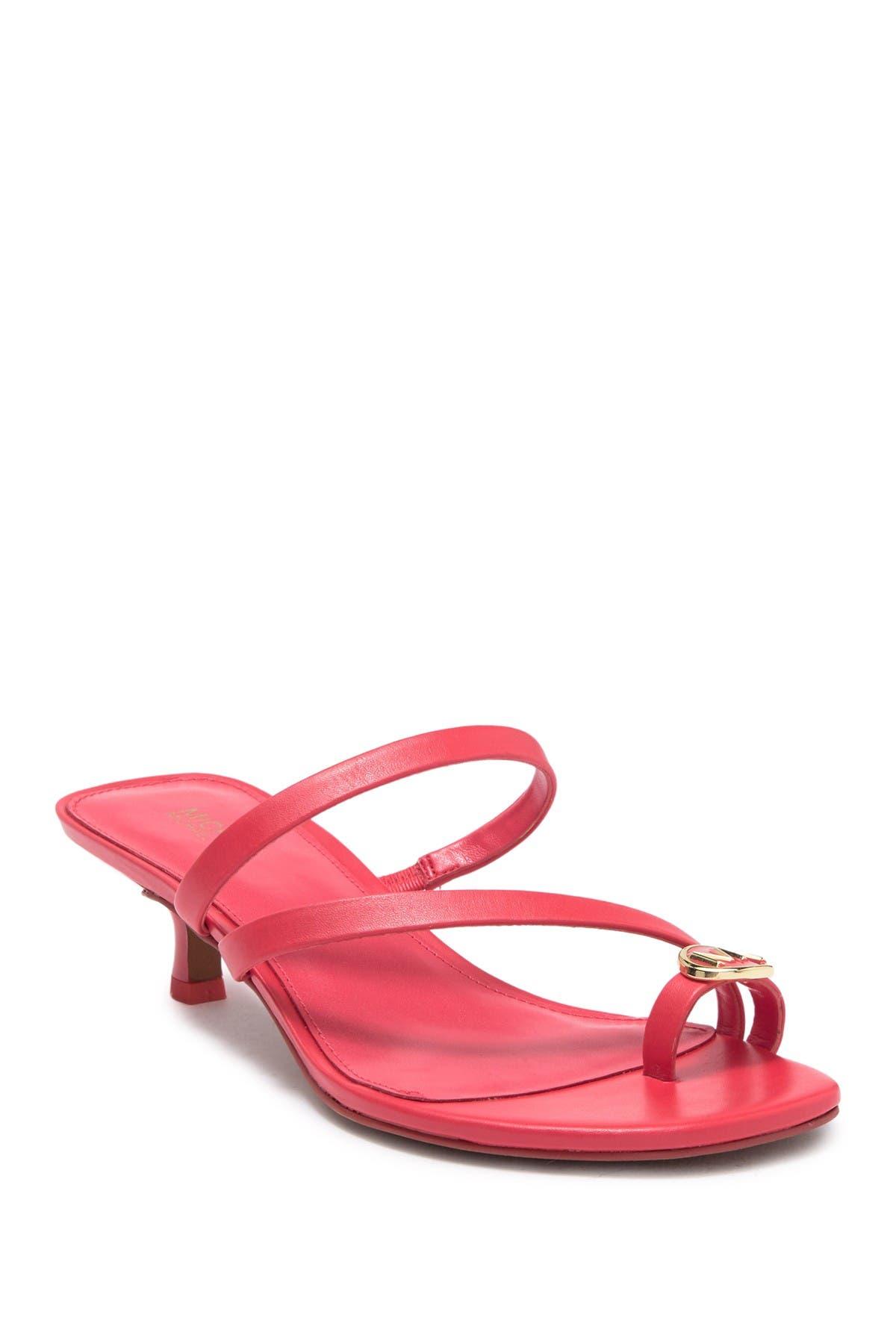 Image of MICHAEL Michael Kors Letty Strappy Kitten Heel Sandal