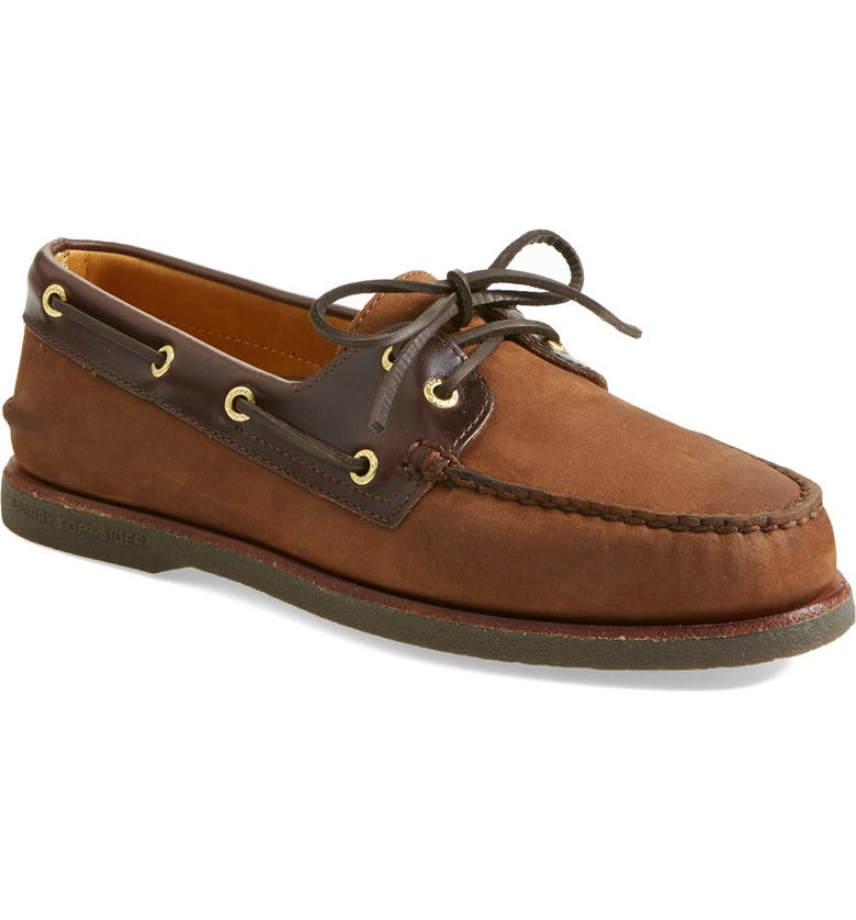 Sperry Top-sider 'Gold Billfish 3-Eye' Boat Shoe in Brown ... |Sperry Gold