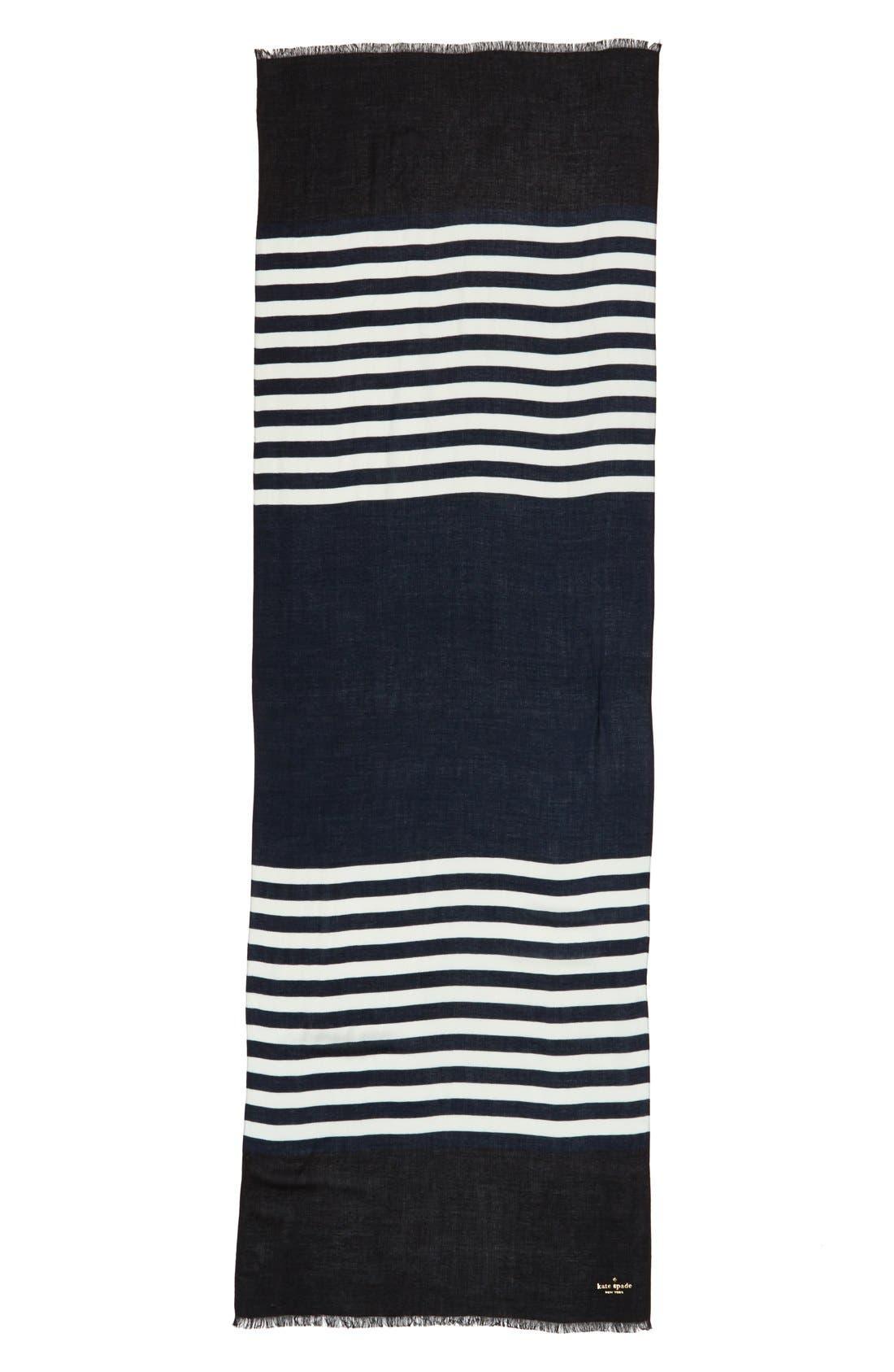 ,                             'six month stripe' scarf,                             Alternate thumbnail 7, color,                             490