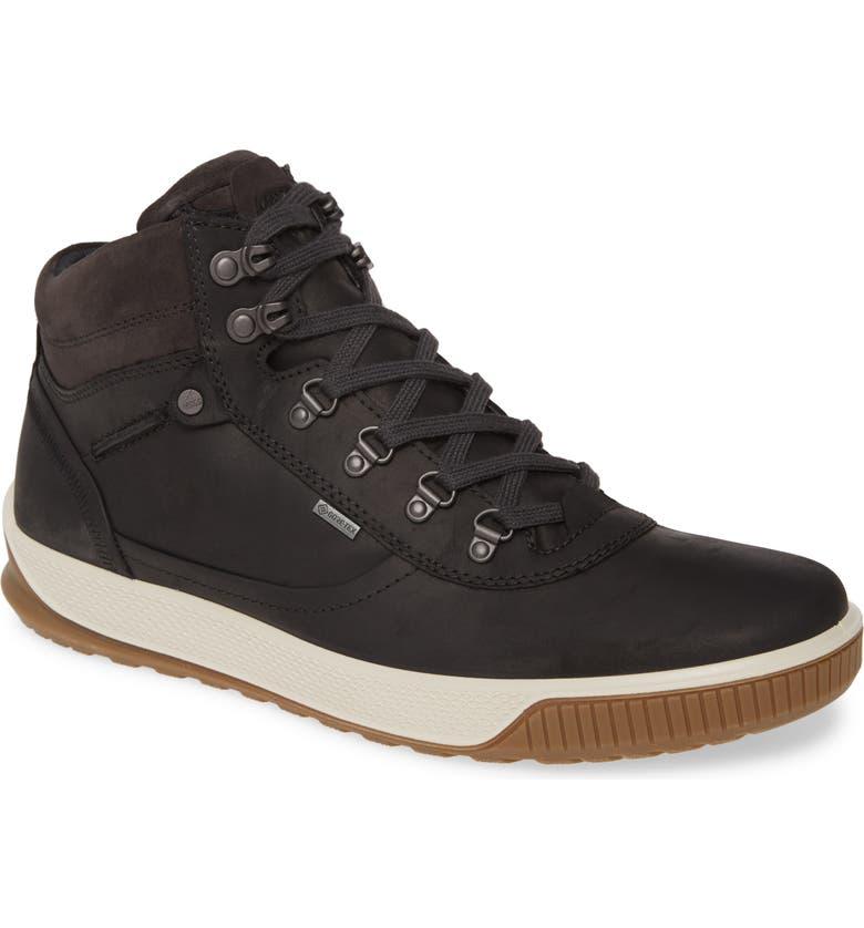 ECCO Byway Tred GTX Urban Waterproof Sneaker, Main, color, BLACK/ MOONLESS