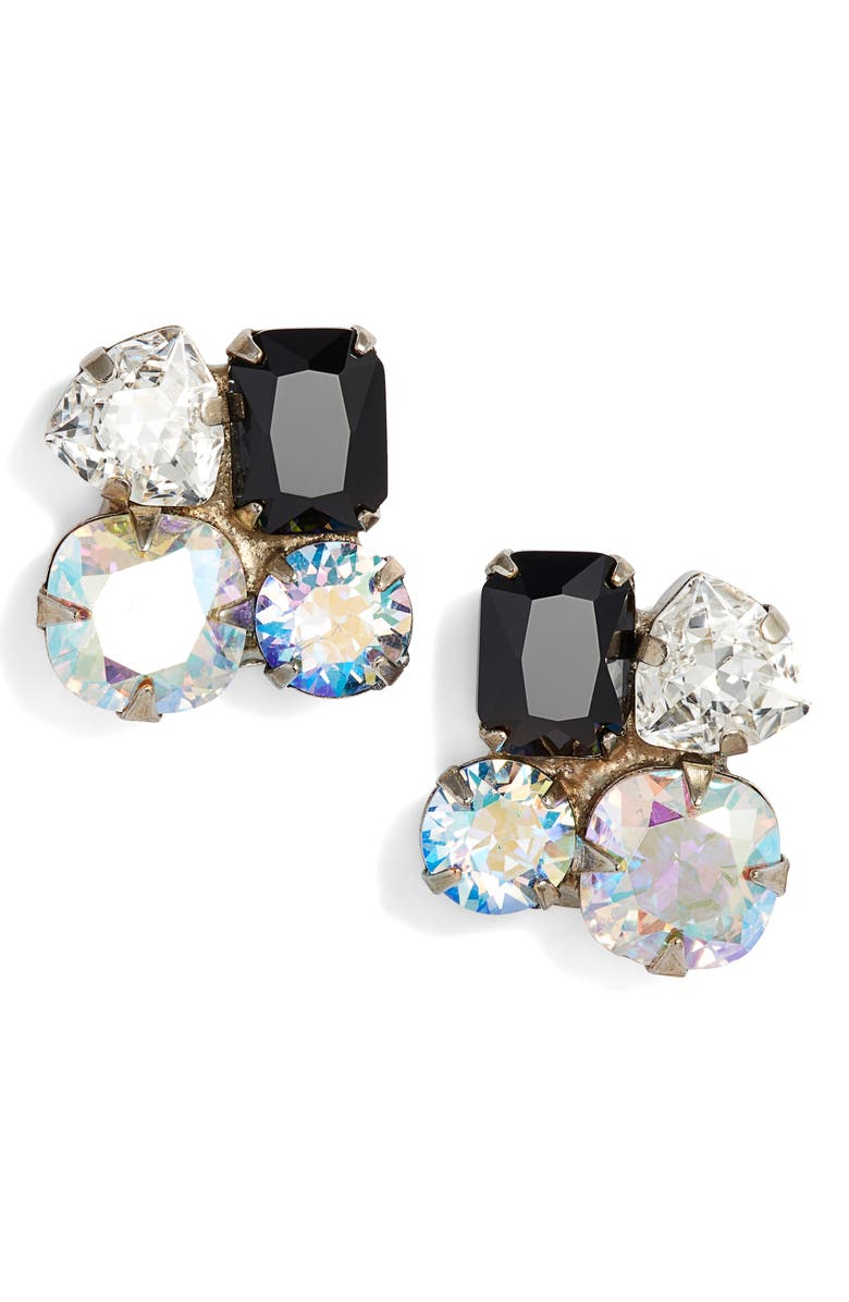 SORRELLI Crystal Cluster Stud Earrings, Main, color, 040