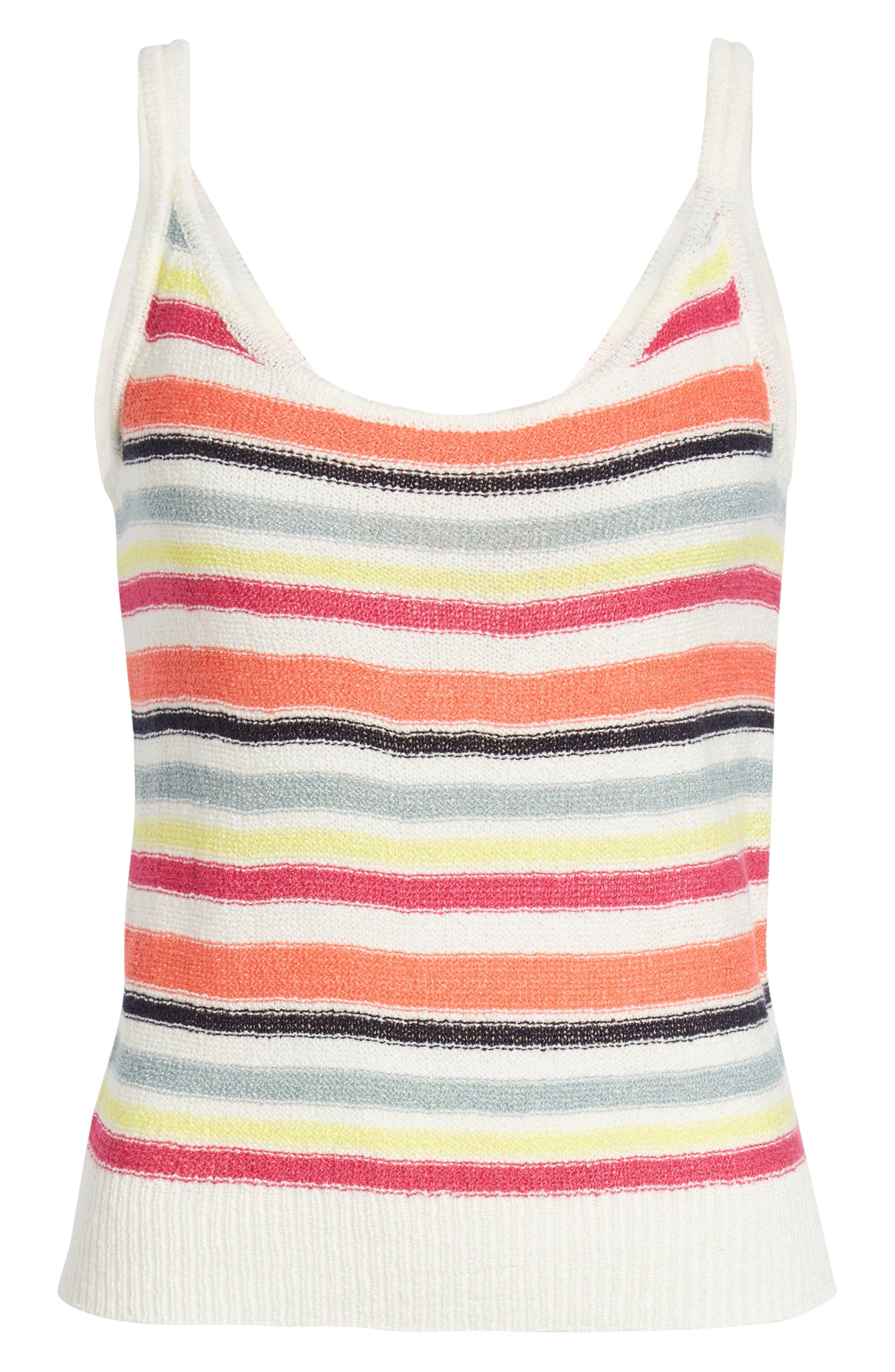 ,                             Aeon Stripe Sweater Tank,                             Alternate thumbnail 6, color,                             IVORY
