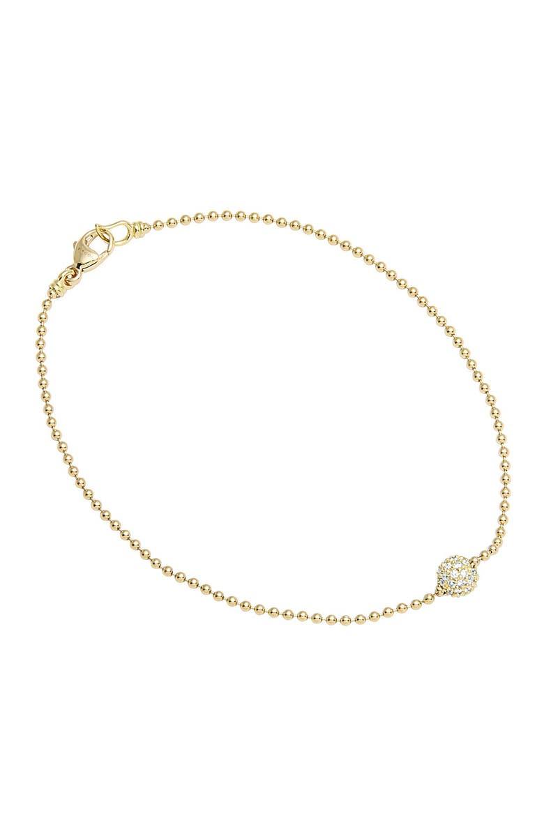 LAGOS 'Covet' Diamond Pavé Sphere Bracelet, Main, color, GOLD/ DIAMOND