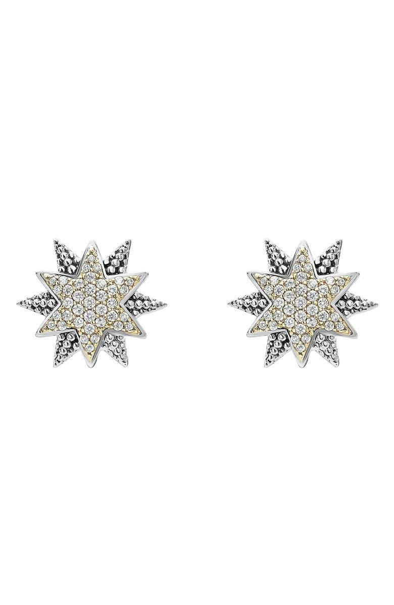LAGOS North Star Diamond Omega Earrings, Main, color, 040