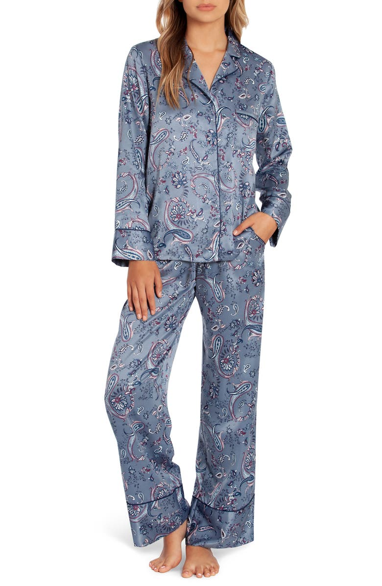 IN BLOOM BY JONQUIL Whistler Pajamas, Main, color, PAISLEY CHARCOAL