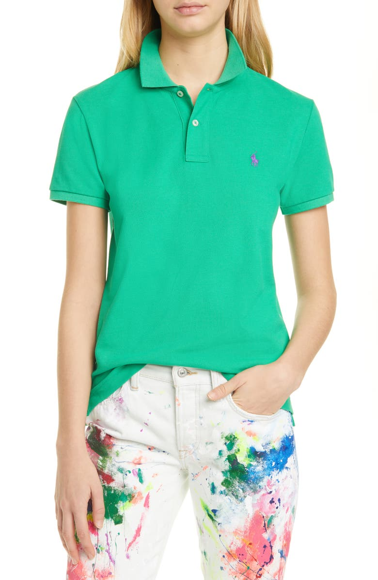 POLO RALPH LAUREN Classic Fit Polo, Main, color, GOLF GREEN