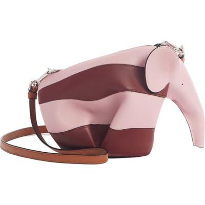 Loewe Rugby Stripe Elephant Calfskin Leather Crossbody Bag - Pink