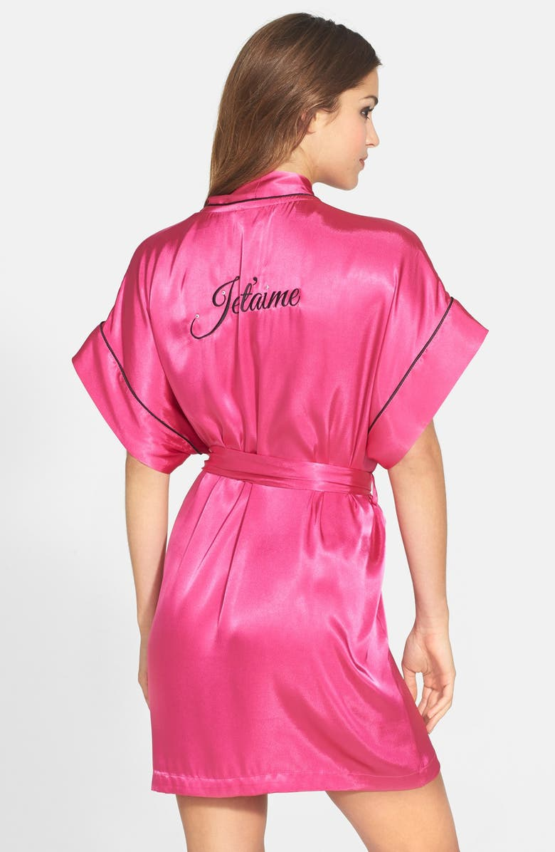 IN BLOOM BY JONQUIL 'Je T'aime' Satin Kimono Robe, Main, color, 600