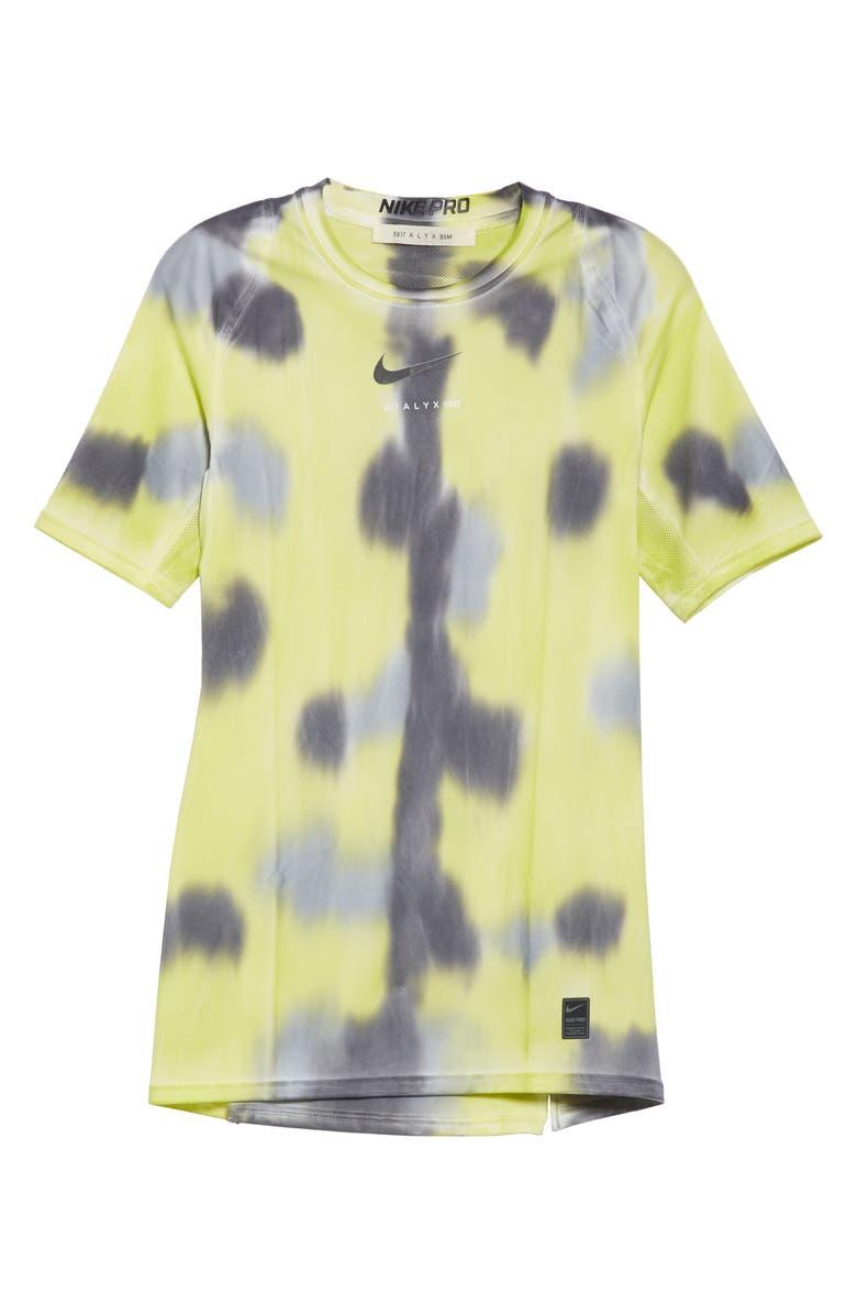 1017 ALYX 9SM x Nike Sponge Camo T-Shirt, Main, color, NEON CAMO