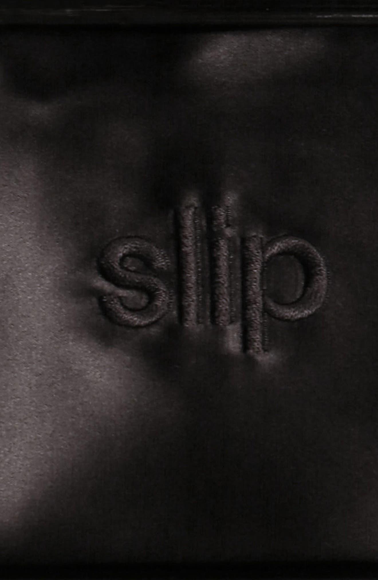 ,                             slip<sup>™</sup> for beauty sleep Slipsilk<sup>™</sup> Pure Silk Pillowcase,                             Alternate thumbnail 2, color,                             BLACK