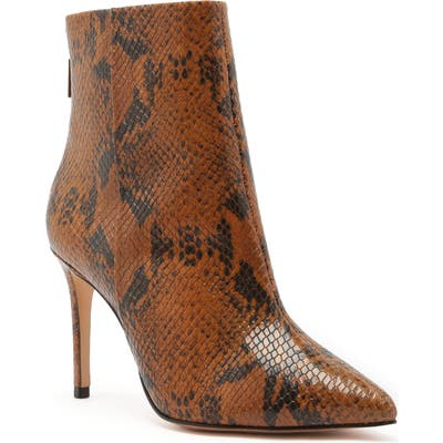 Schutz Michela Pointed Toe Bootie, Brown