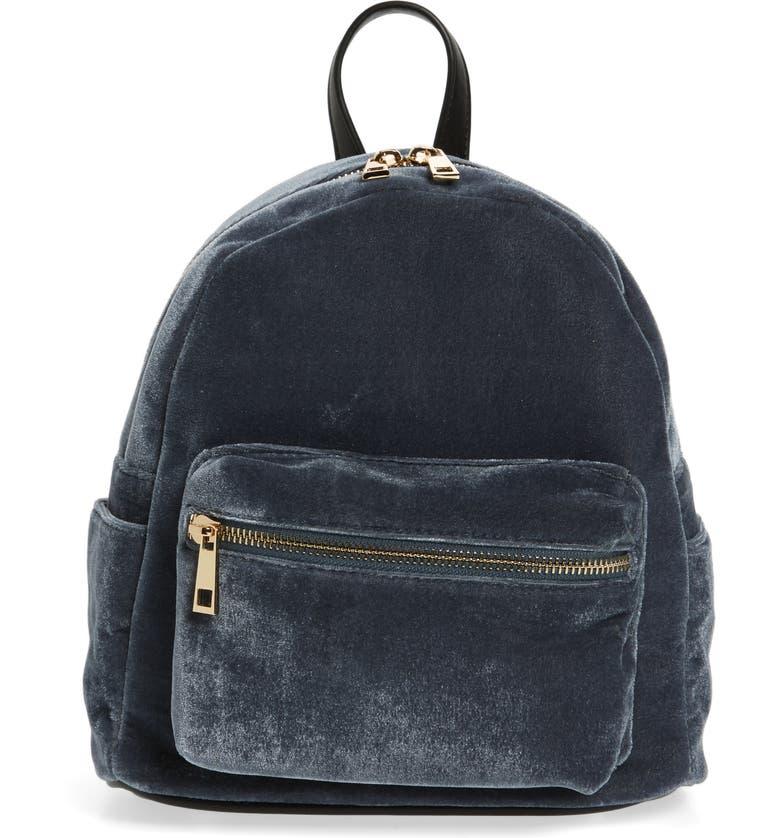 BP. Mini Velvet Backpack, Main, color, 400