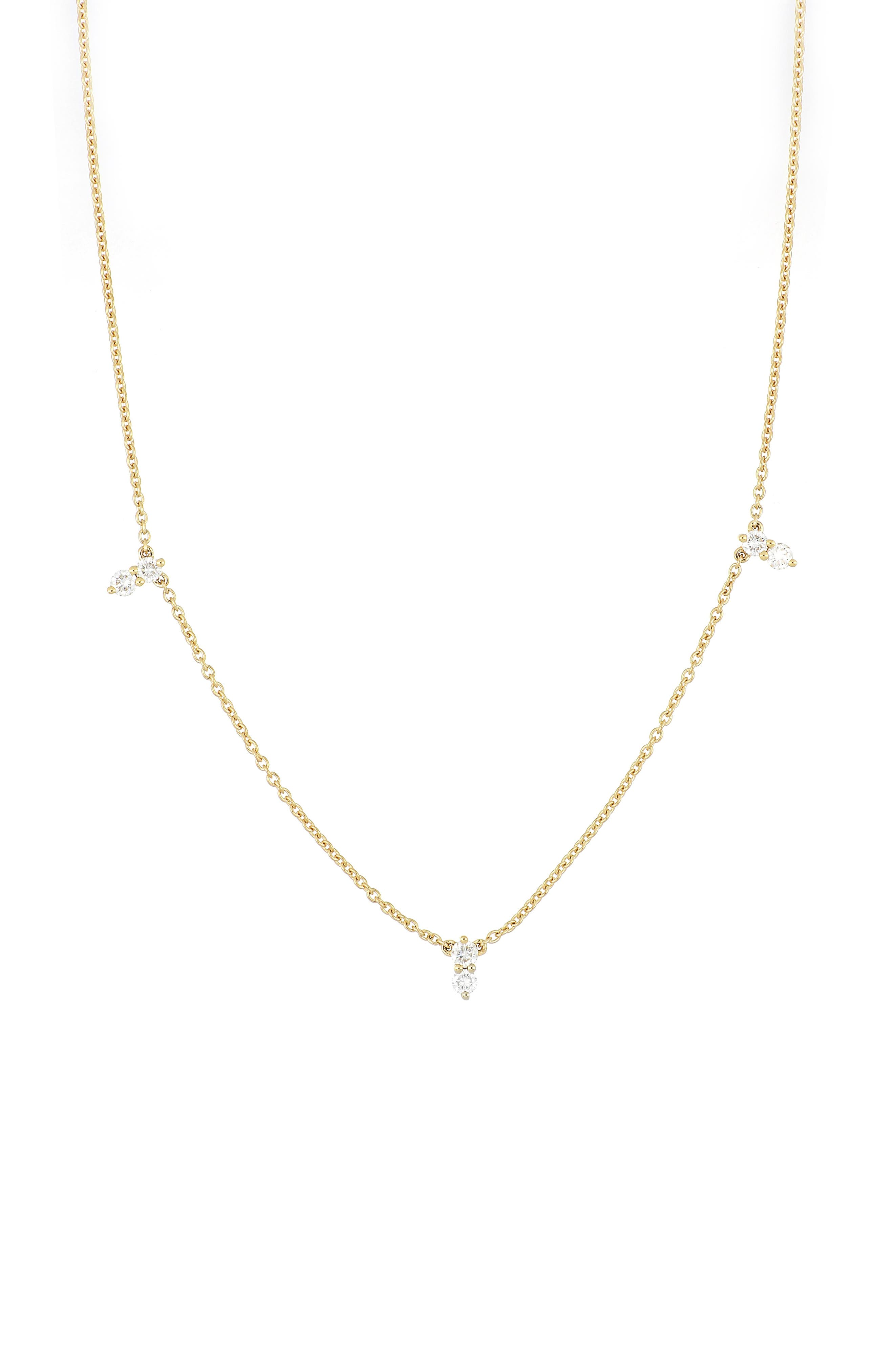 Spears of round diamonds sparkle beautifully from a handcrafted gold necklace that sits elegantly along the collarbone. Style Name: Bony Levy Rita Diamond Station Necklace (Nordstrom Exclusive). Style Number: 6050213. Available in stores.