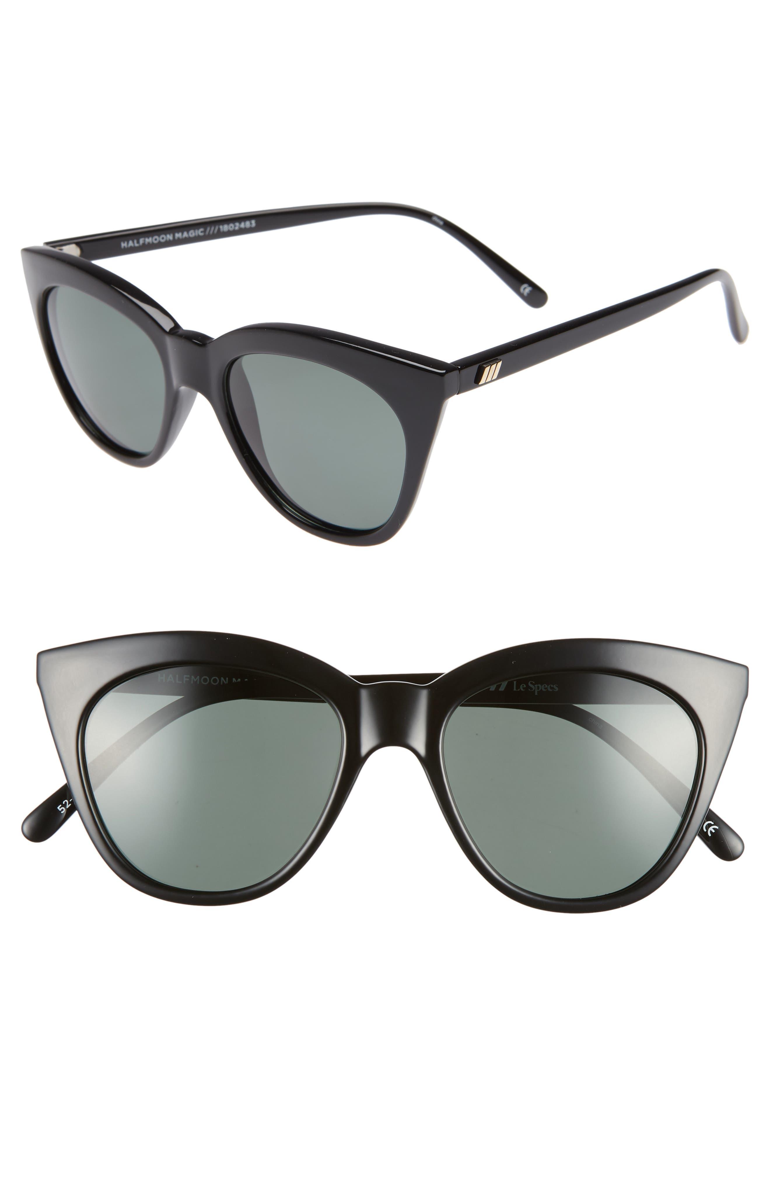 Le Specs Halfmoon Magic 52Mm Polarized Sunglasses - Black