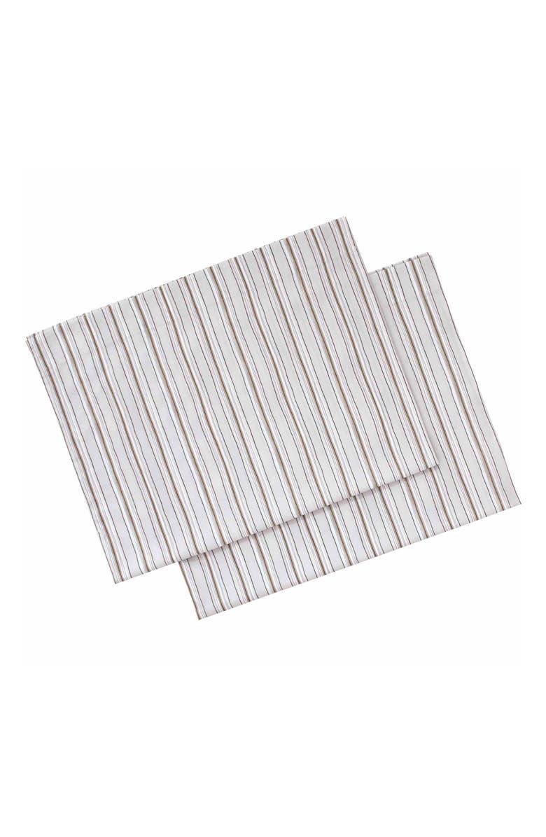 ED ELLEN DEGENERES Sketched Stripe Set of 2 Pillowcases, Main, color, LIGHT GREY