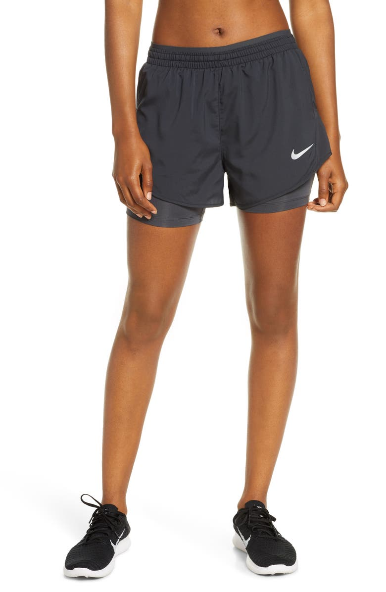 NIKE Tempo Lux 2-in-1 Running Shorts, Main, color, BLACK/ ANTHRACITE