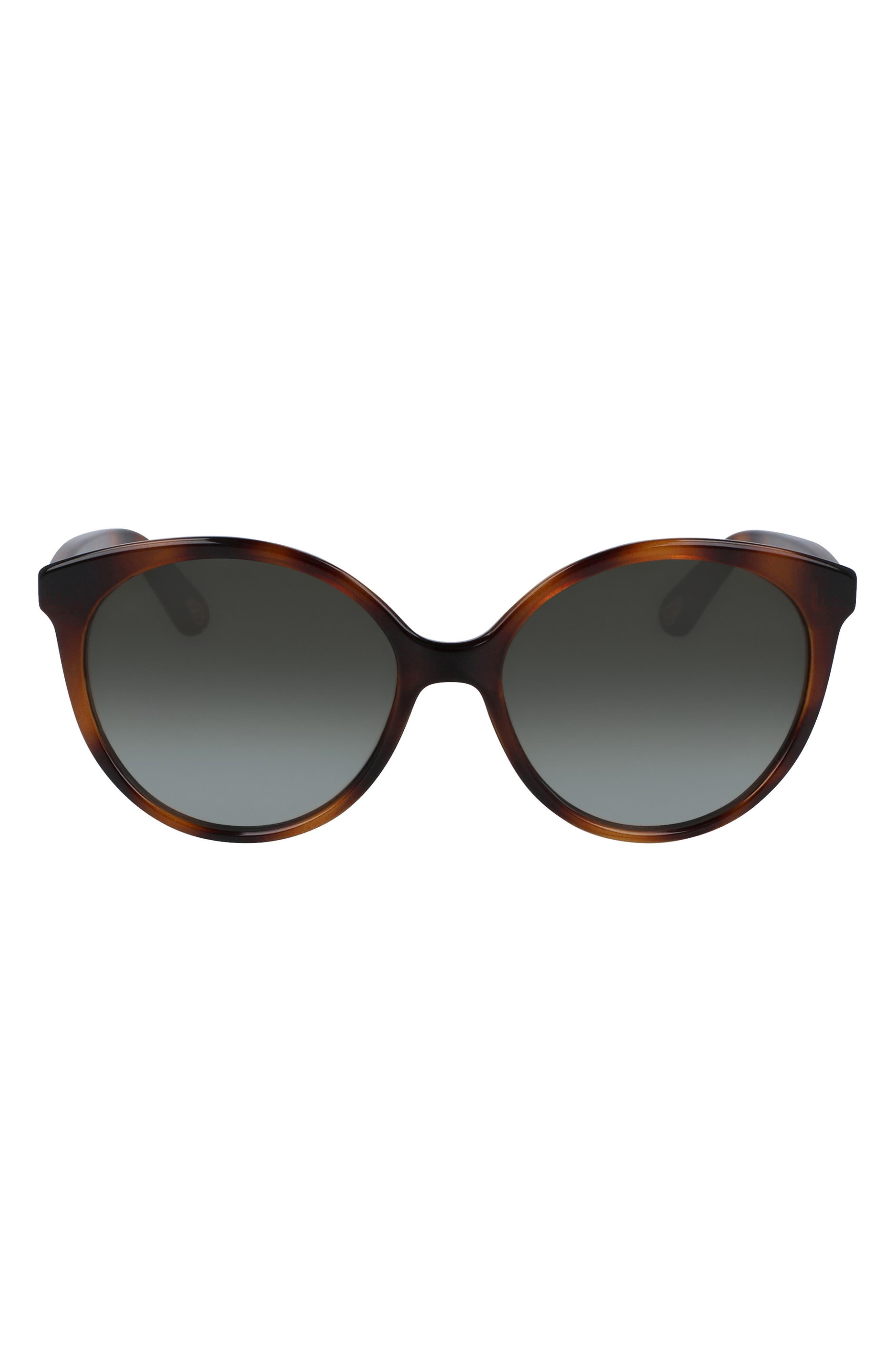 Image of Chloe 58mm Classic Rounded Cat Eye Sunglasses