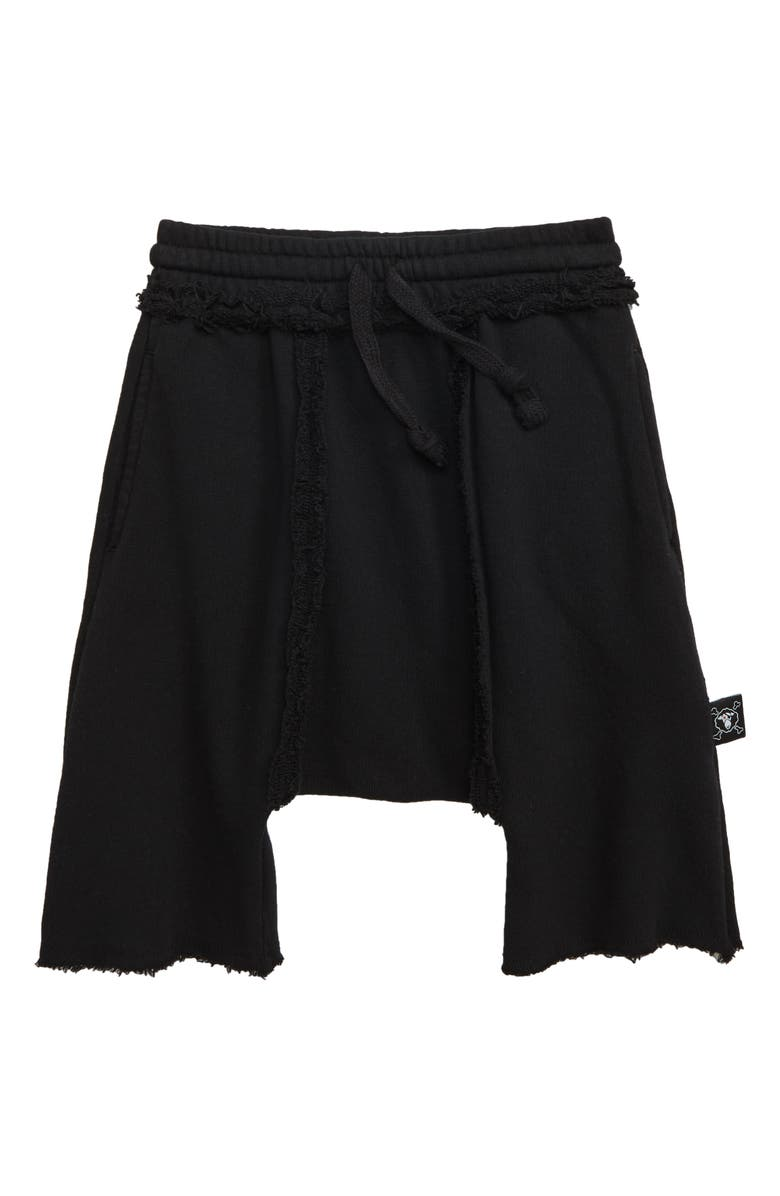 NUNUNU Harem Sweat Shorts, Main, color, 001