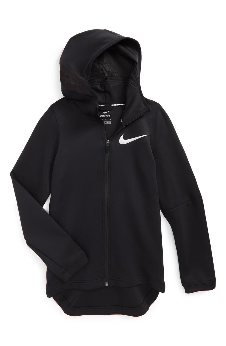 8641bd165 Nike Showtime Therma Flex Dry Stretch Basketball Hoodie (Little Boys ...