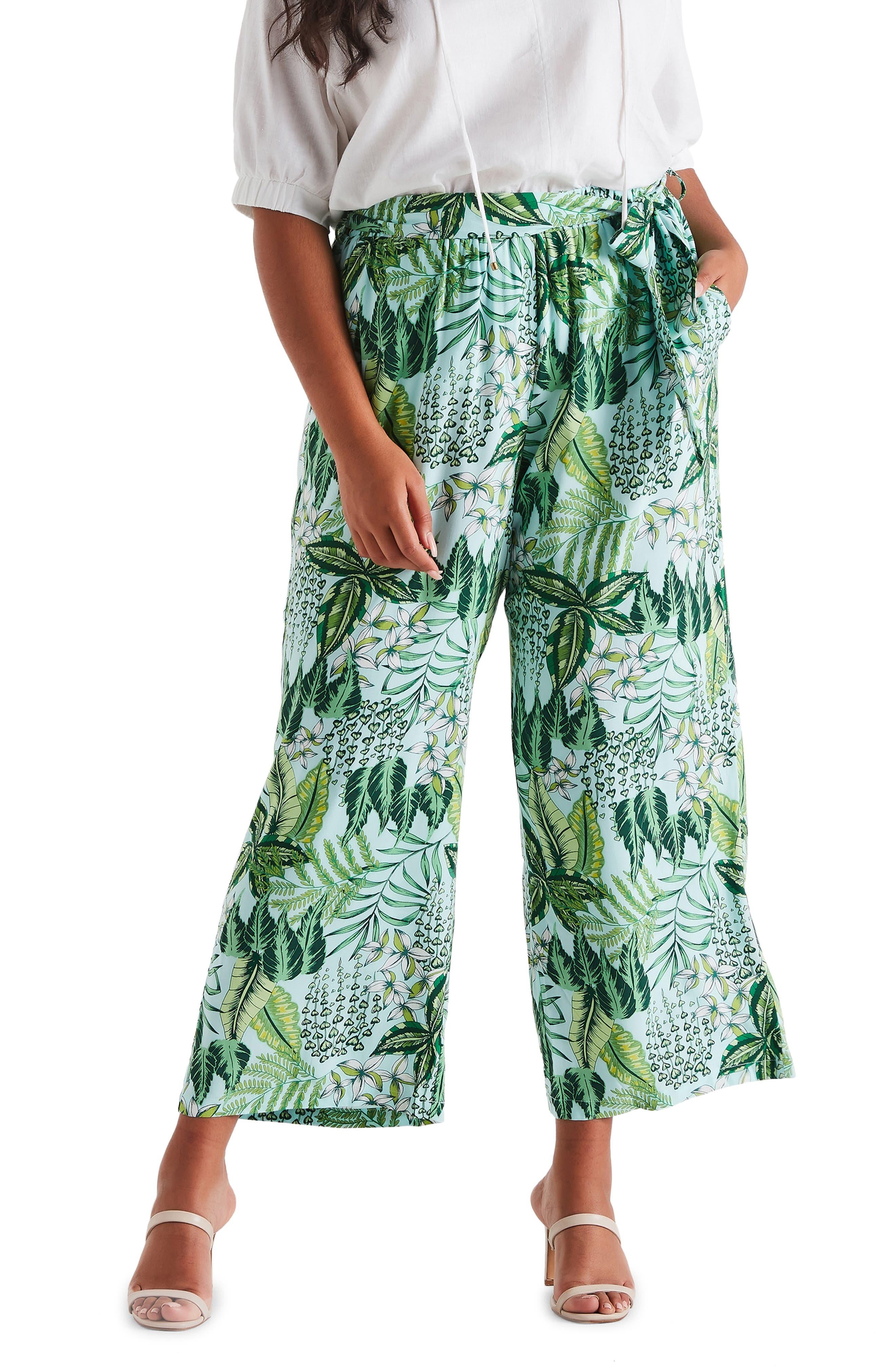 Monsteria Tropical Wide Leg Pants