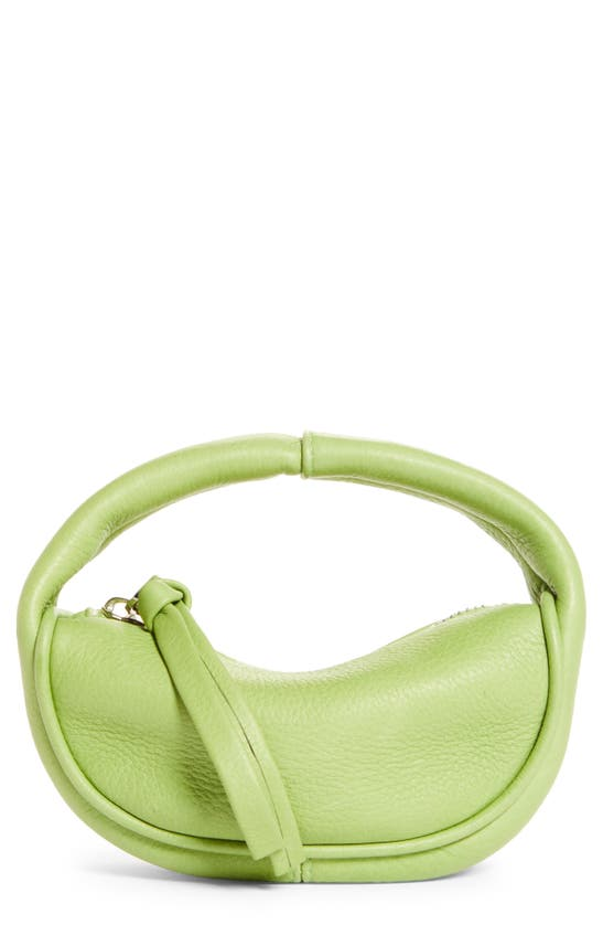 By Far Leathers MICRO CUSH LEATHER TOP HANDLE BAG