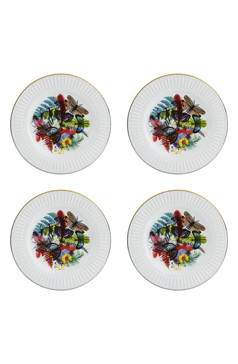 CHRISTIAN LACROIX Caribe Set of 4 Dessert Plates, Main, color, 100
