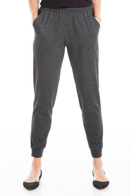 Image of Max Studio Houndstooth Double Knit Joggers