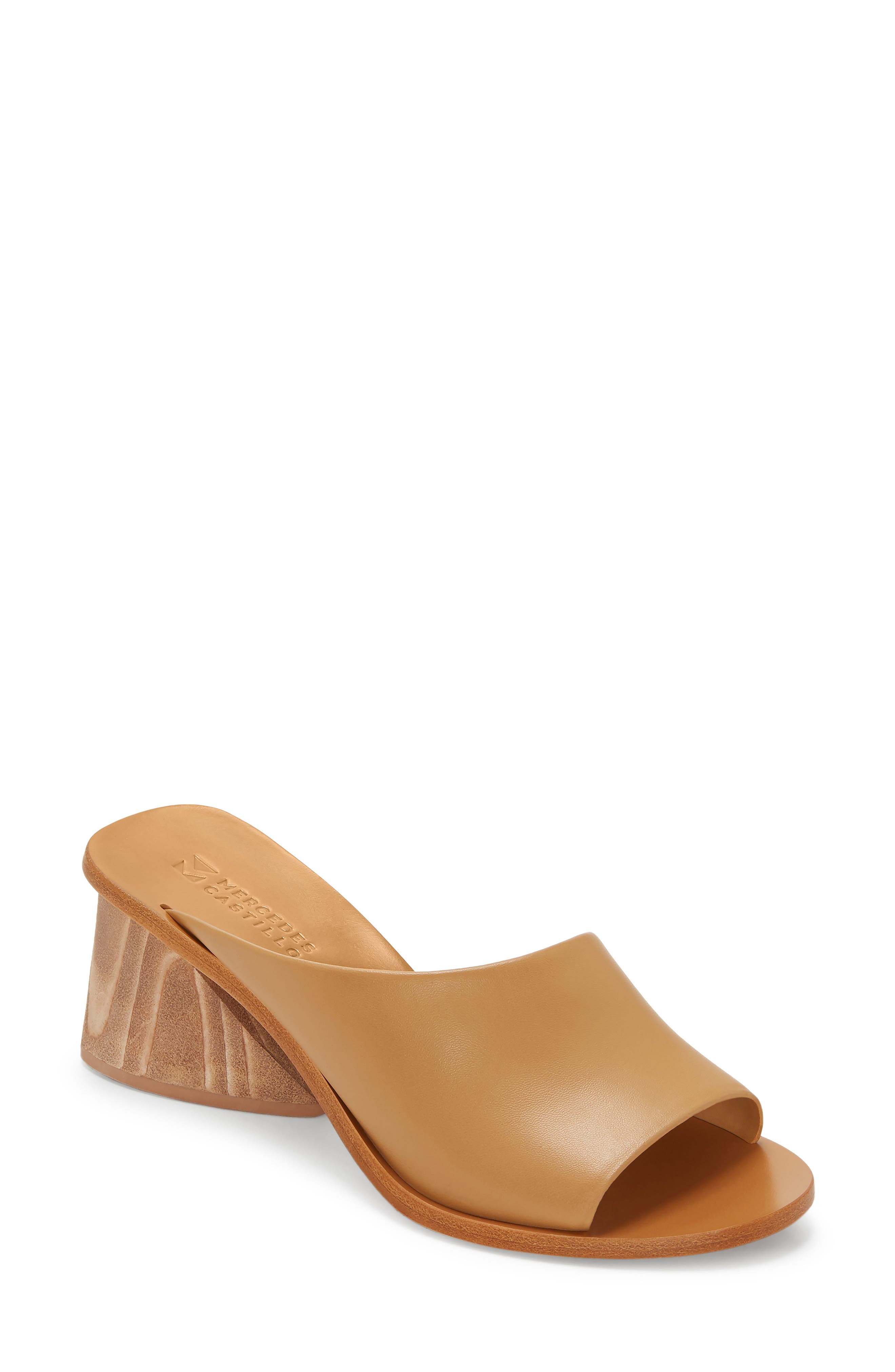 Izar Slide Sandal, Main, color, BLONDE