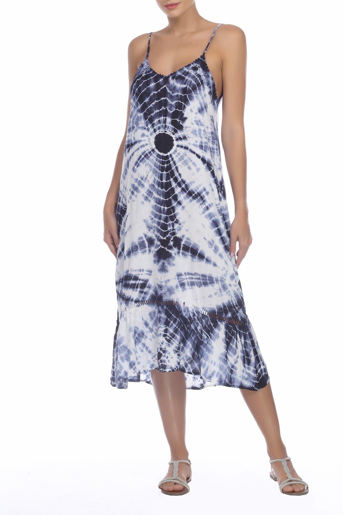 Image of BOHO ME Tie Dye Sleeveless Midi Dress