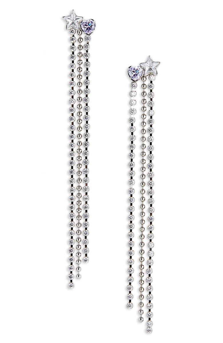 JIWINAIA Celeste Drop Earrings, Main, color, RHODIUM BRASS