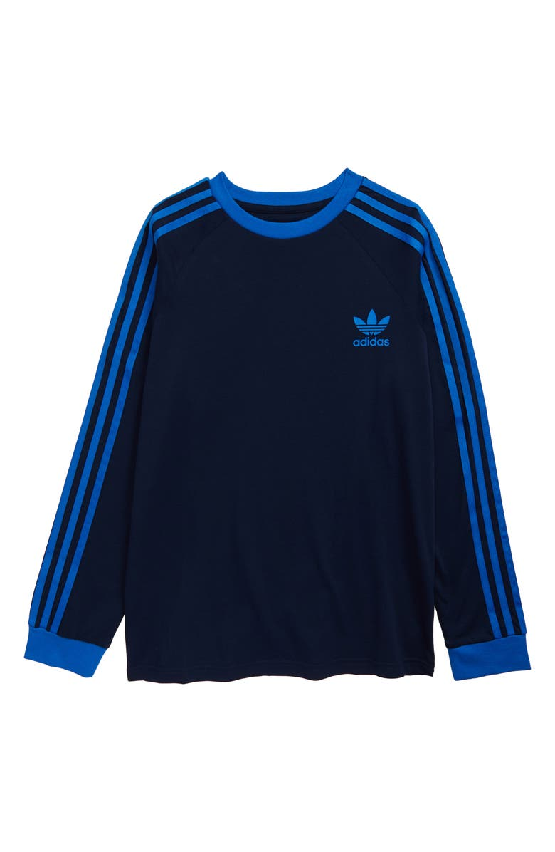 ADIDAS ORIGINALS 3-Stripes Long Sleeve T-Shirt, Main, color, 415